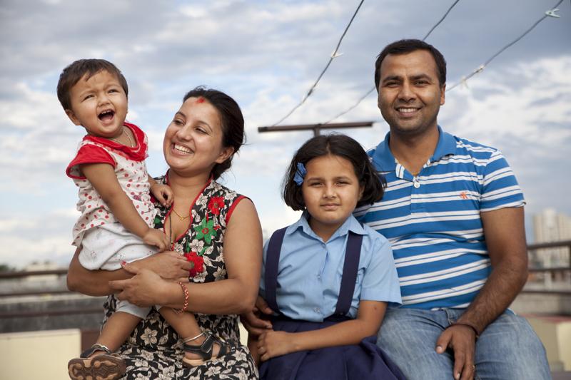 Suraj, le transporteur et sa famille