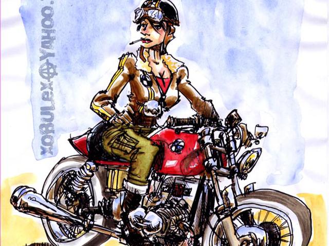 Bande dessin e archives page 2 sur 3 moto culture - Dessin motard humoristique ...