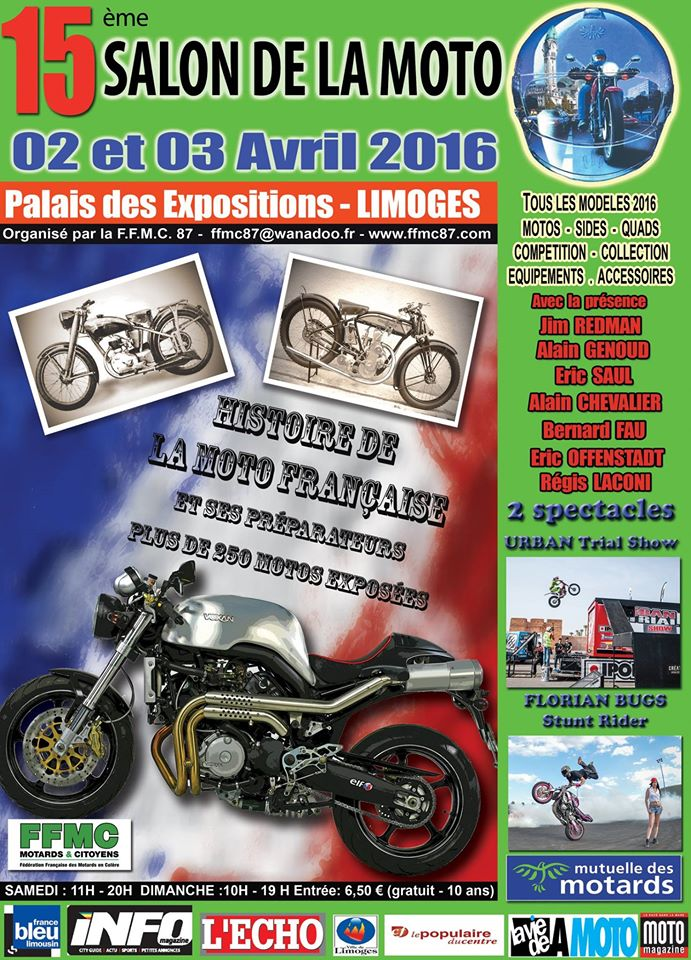 Salon de la moto de limoges 2016 for Salon limoges