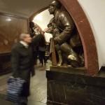 Station metro PLOSHCHAD REVOLYUS - porte-bonheur