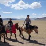 Trois cavaliers mongols