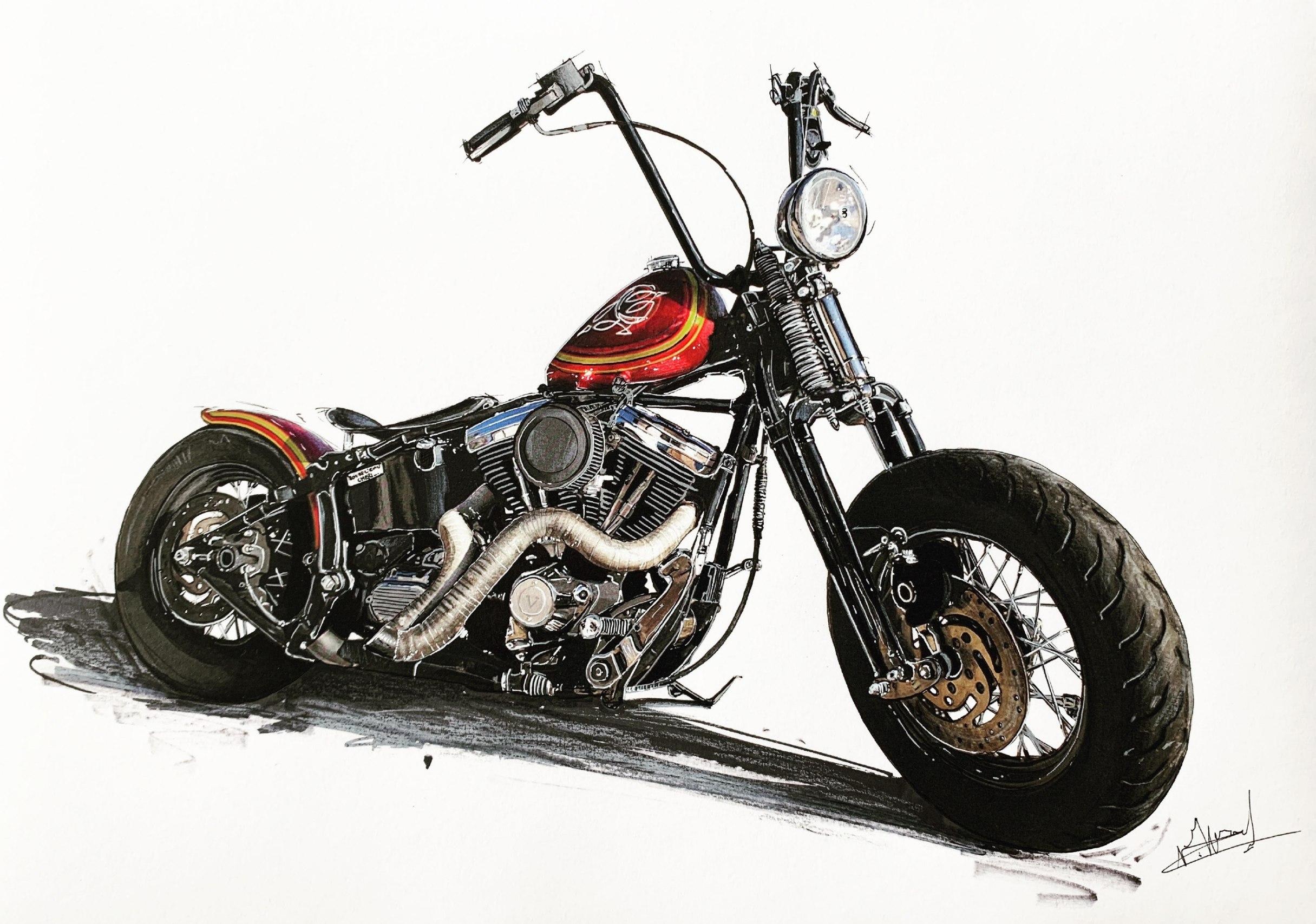 Tatoué Harley Page 2 sur 17 J'ai roulé sur la planète au